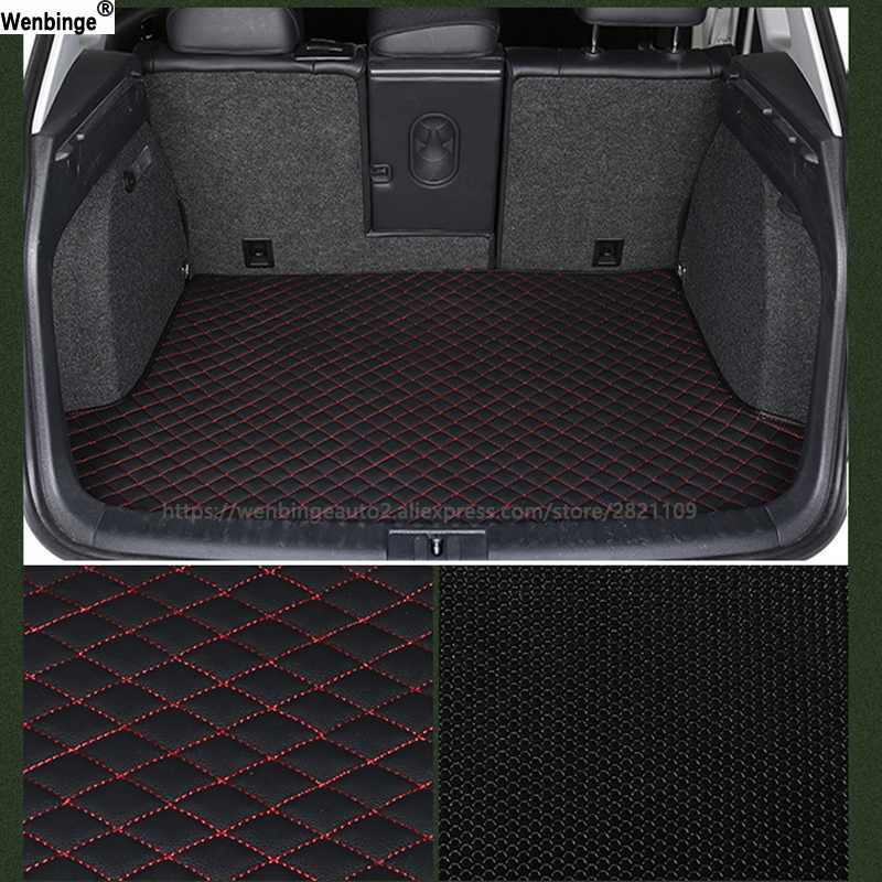 wenbinge car trunk mat For Alfa Romeo Giulia Stelvio 2017 car accessories auto styling custom car cargo liner car pad new luxery flax universal car seat covers for mazda 3 6 2 c5 cx 5 cx7 323 626 axela familia car automobiles accessories cushion