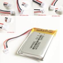 582535 3.7V 500mAh lipo polimerowy akumulator litowy JST 3pin wtyczka 1.0/1.25/1.5/2.0/2.5 dla MP3 GPS zestaw słuchawkowy bluetooth
