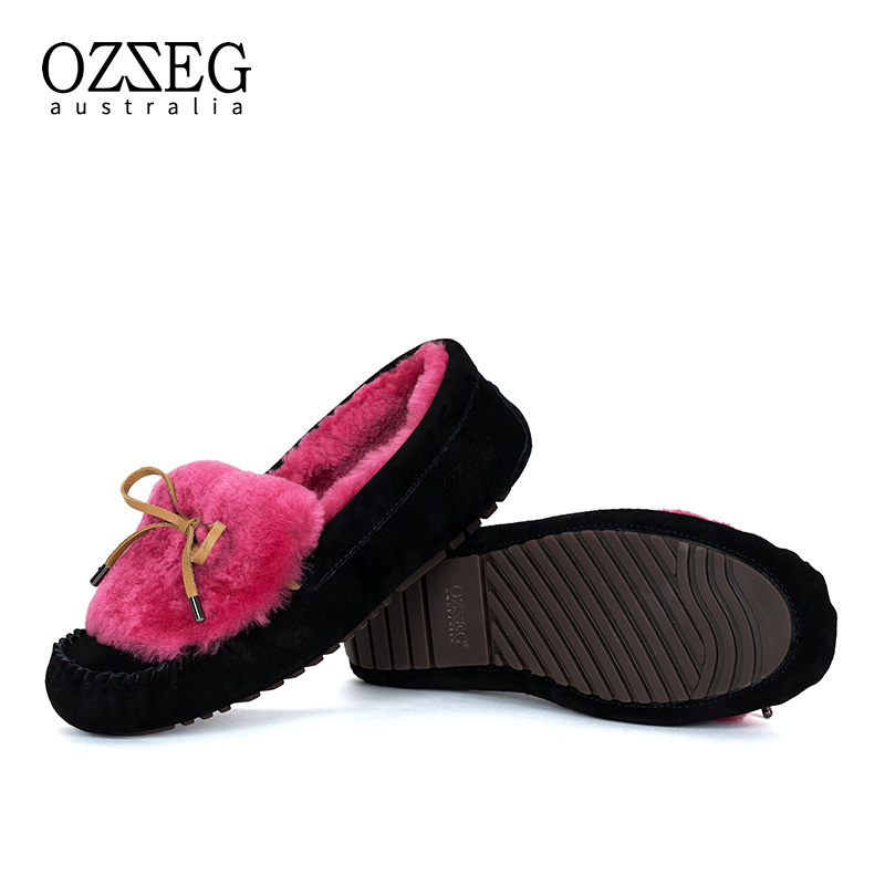 Fashion Women Genuime Leather Flats Real Fur High Quality Casual Warm Winter Shoes Women Flat Shoes Slip on Loafers New Arrival 2017 fashion winter flat fur shoes women rabbit fur tide lazy shoes slip on casual plus velvet loafer shoes autumn new arrival