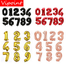 VIPOINT PARTY 32inch rose gold red balck number foil balloons wedding event christmas halloween festival birthday party PD-99