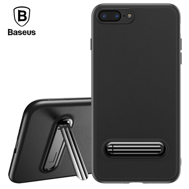 new products e8306 950a7 US $7.36 21% OFF|Baseus Luxury Stand Case For iPhone 7 8 Cover Phone Holder  Kickstand Carbon Fiber Ultra Thin TPU Cases For iPhone 8 Plus 7 Plus-in ...
