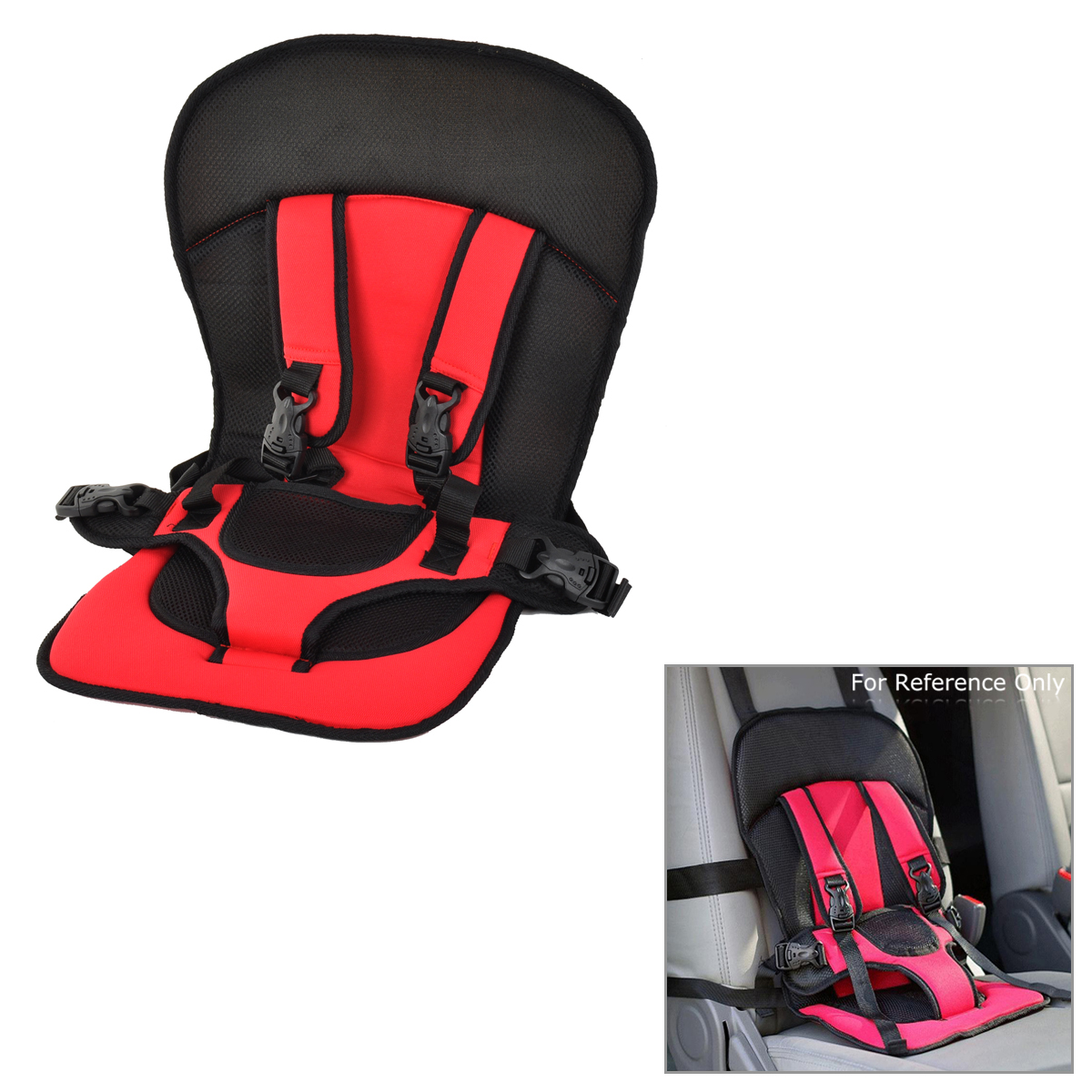 Child Multi-Functional Portable Car Safety Harness Pad Seat Cover Cushion With Adjustable Strap For Children Below 12 Years Old