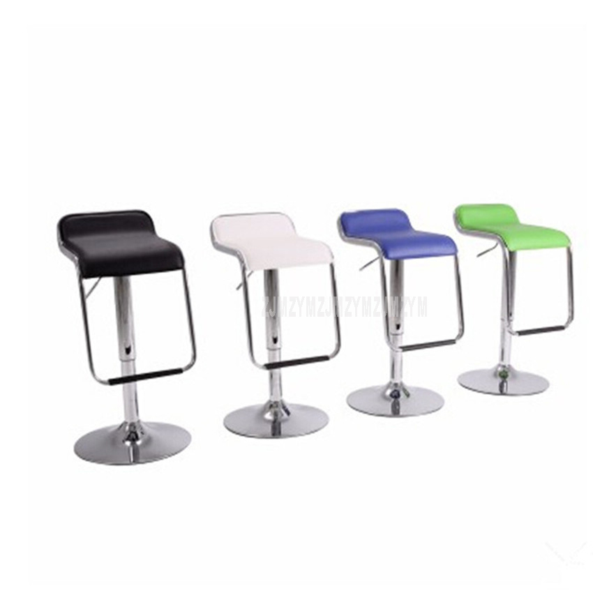 Lifting Swivel Bar Counter Chair Rotating 56-76cm Height Adjustable Bar Chair PU Leather Soft Cushion High Footstool Barstool