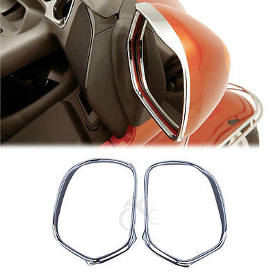 50-60/'s Led Turn Signal Rear Side View Outside Chrome Trim Door Mirrors