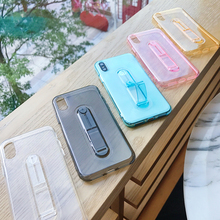 Original Soft Silicone Case For iPhone Xs Xr Max 6 s 6s 5 5s SE X 7 8 Plus 6Plus 7P Ultra thin TPU Clear Back Cover Ring Holder