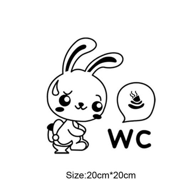 Removable Wc Toilet Entrance Sign Door Stickers For Public Place