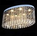 Овальная роскошная хрустальная потолочная лампа для гостиной домашняя лампа для столовой лампа для отеля креативная Ретро железная лампа