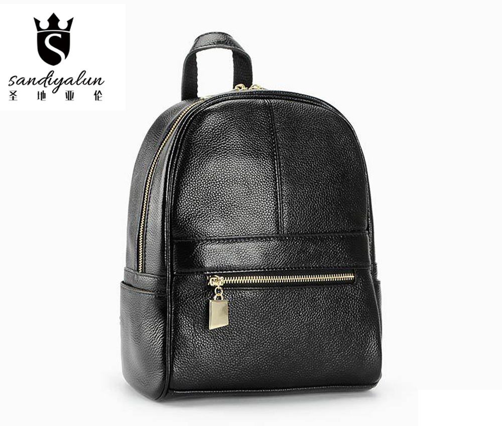 Preppy Style Genuine Leather Backpack Women Bags Bostanten Fashion Backpack Girls School Bags Patchwork Women's BackPack nawo fashion genuine leather backpack rivet women bags preppy style backpack girls school bags zipper large women s backpack sac
