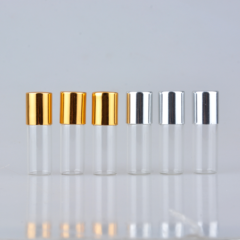100Pieces/Lot 2ML Mini Travel  Glass Roll On Bottle For Essential Oils Perfume Bottle  Empty Cosmetic Containers For Oil Sample