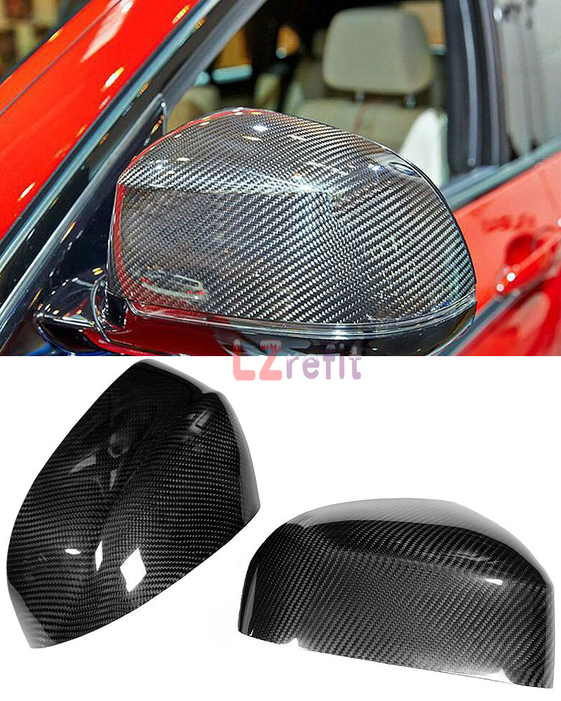 Real Carbon Fiber Mirror Cover For BMW X3 E83 X4 F26 X5 F15 X6 F16 2014UP 1pair carbon fiber mirror rearview cover 2pcs for bmw x6 f16 2015