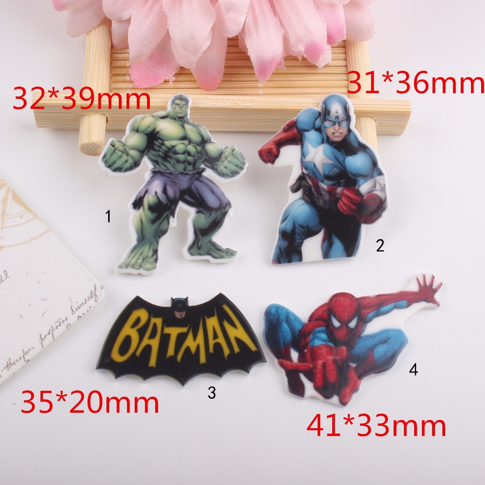 Patch di cartone animato kawaii spider man hulk figurine batman