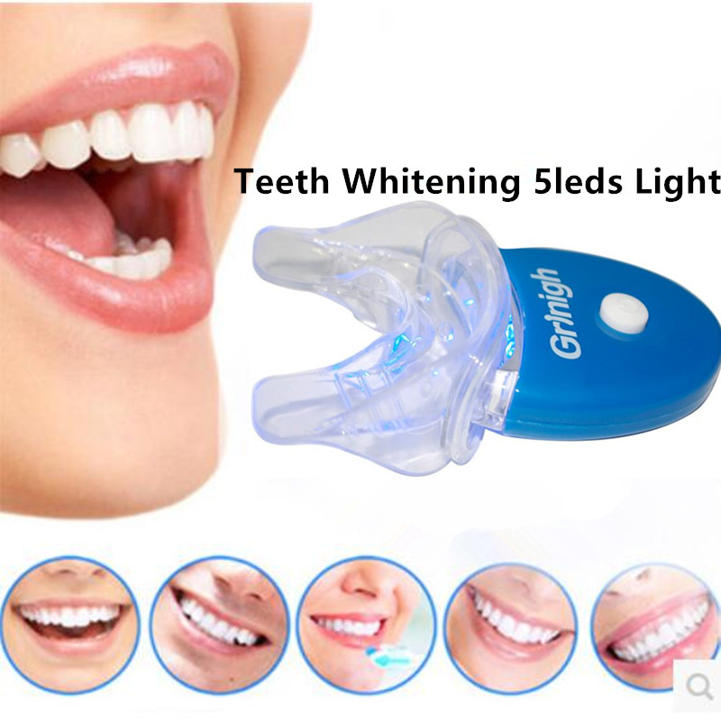 1pc grinigh teeth whitening 5 leds uv accelerator light with mouth. Black Bedroom Furniture Sets. Home Design Ideas