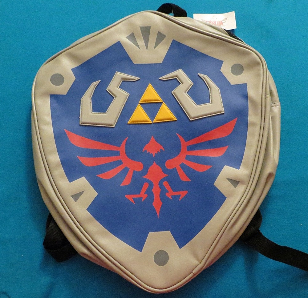 Game peripherals Legend of Zelda Link's shield shape high quality backpack. Best quality copy. Cheap price AB161