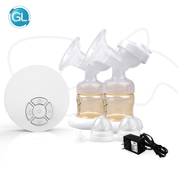 New GL Comfortable FDA Approved Electric Double Breast Pump Baby Breastmilk Feeding Milk Suction Pump for Baby Feeding BPA Free