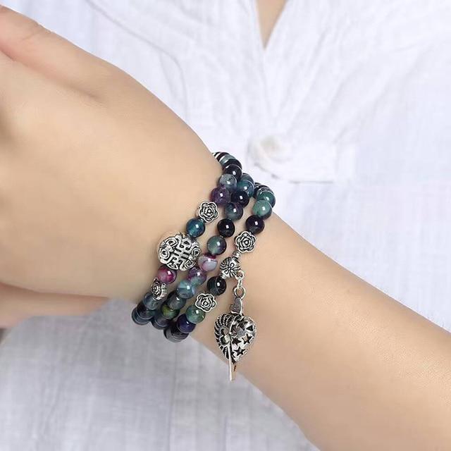 Bracelet Pierres Porte-Bonheur Cristal de Dragon