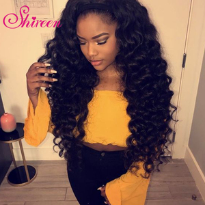 Image 2 - Shireen שיער Loose עמוק גל חבילות עם סגירת רמי שיער טבעי Weave חבילות עם סגירה מלזי 3 חבילות עם סגירה