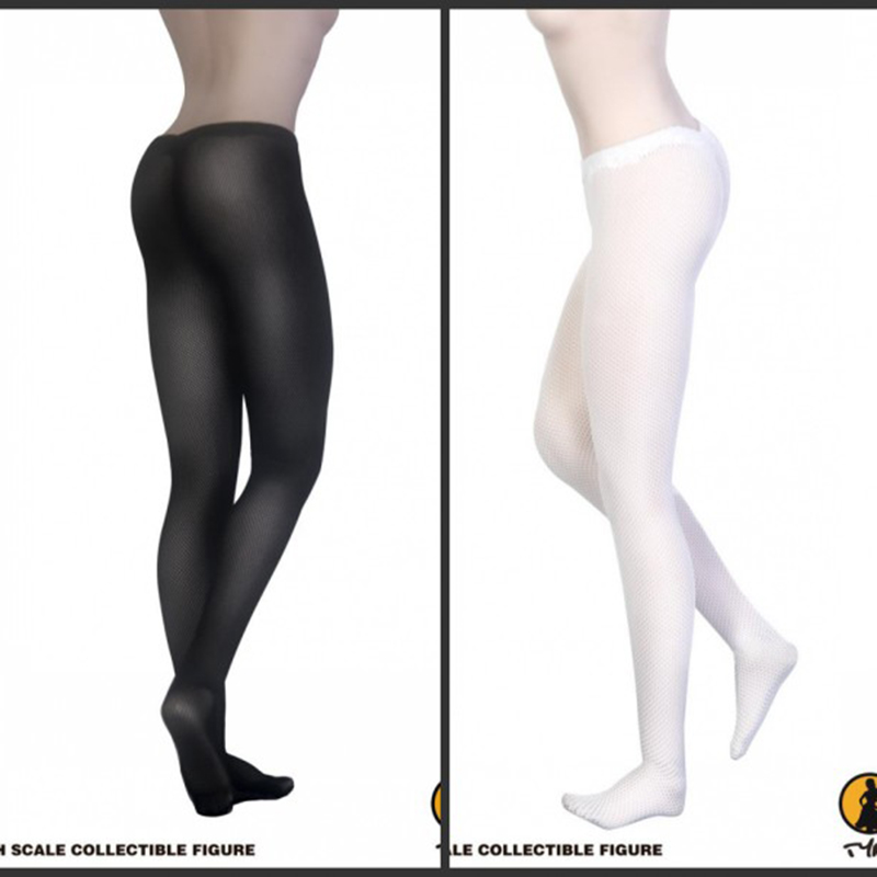 1/6 1:6 Scale Black White <font><b>Sexy</b></font> Pantyhose Tights Silk Stockings For <font><b>Female</b></font> 12inch <font><b>Action</b></font> <font><b>Figure</b></font> Toys Fit 1:6 Phicen Toy 12''Model image