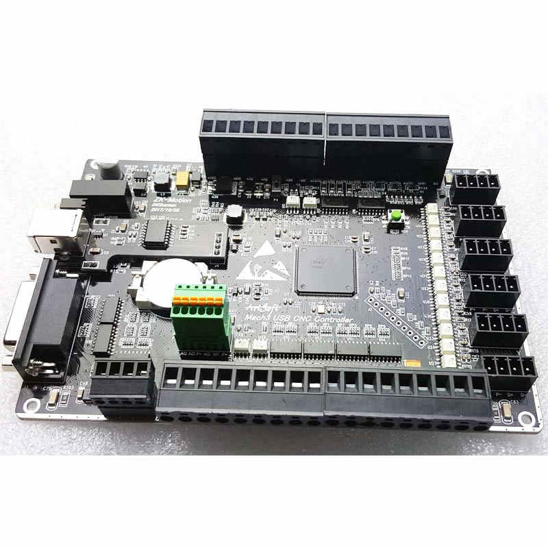 Mach3 USB CNC 3 axis 4 axis 5 axis 6 axis engraving machine interface  board, Weiwei movement control card high speed