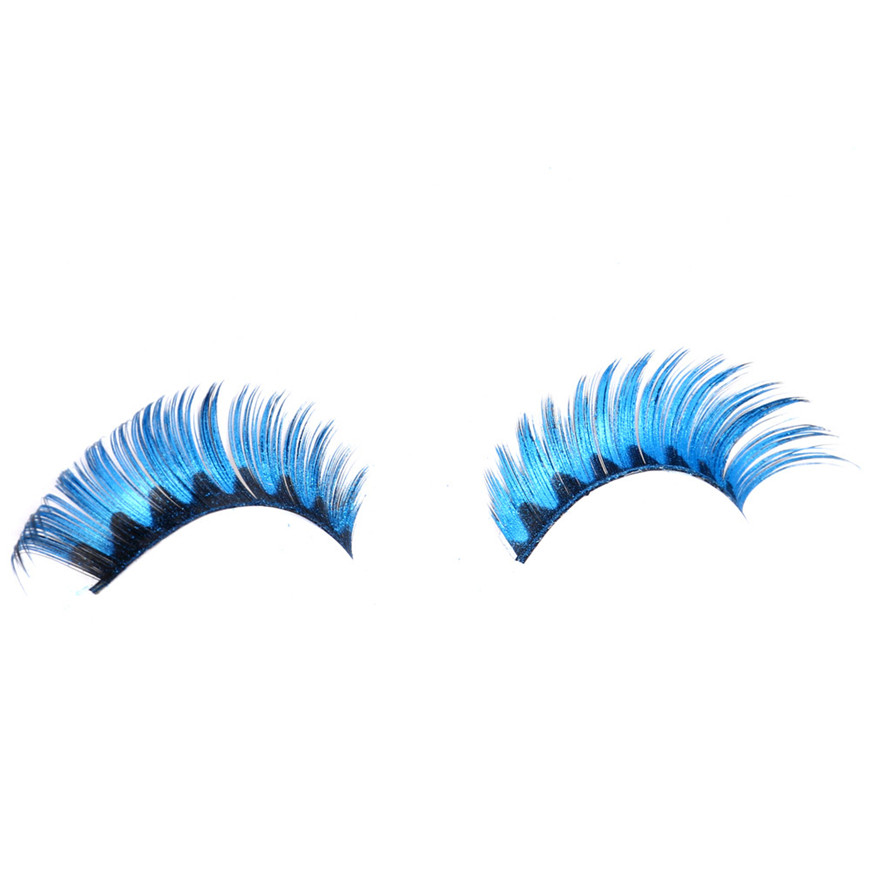 2017 A# makeup Women Halloween Stage Party Makeup Artistic Black Waves False Eyelashes makeup G