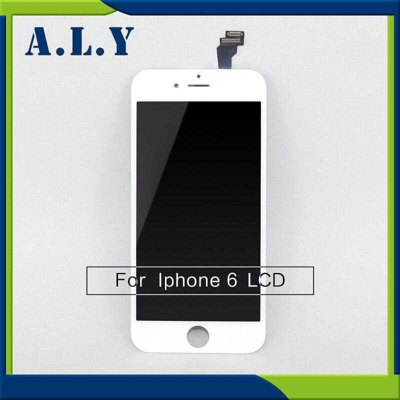 imágenes para 40 unids/lote sin píxeles muertos lcd para apple iphone 6 pantalla lcd con pantalla táctil digitalizador asamblea envío libre de dhl dhl