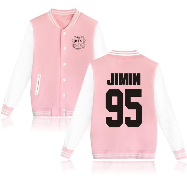 Mujeres kpop BTS Bangtan niños Jungkook jhope jin jimin v suga uniforme de béisbol de manga larga chaqueta de Sudadera con capucha de alta calidad
