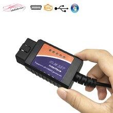 2018 venda quente Adaptador de Cabo USB Para A Maioria Dos Veículos OBD2 ELM327 OBD2 Scanner ELM 327 USB ferramenta de Verificação de Diagnóstico Livre grátis