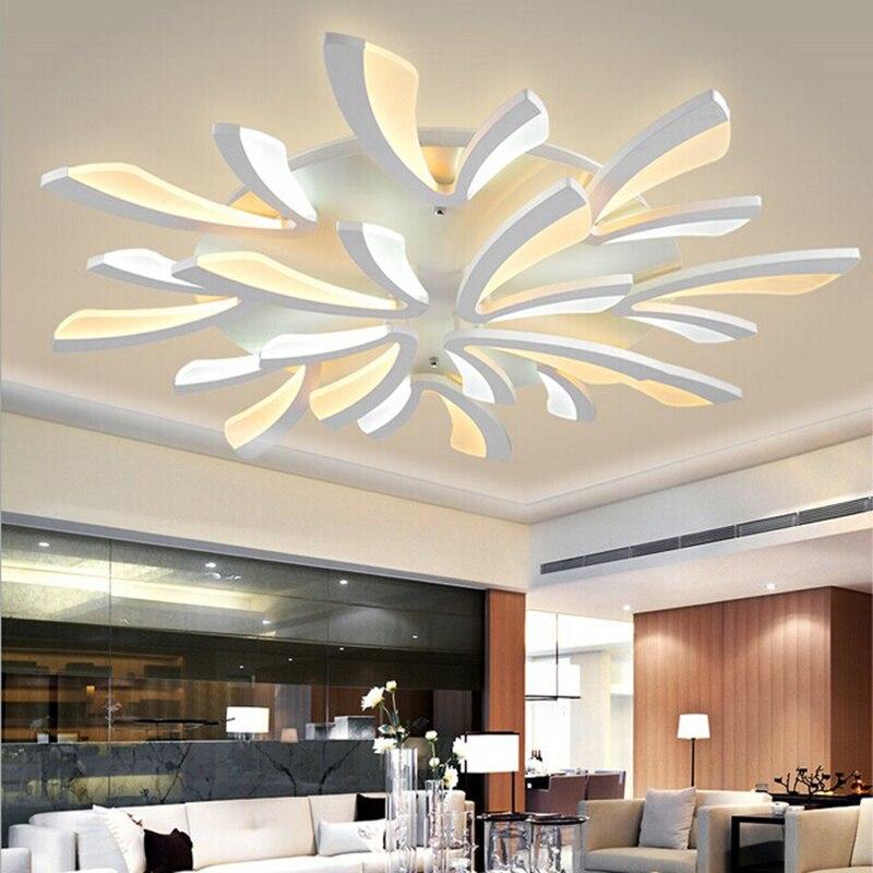 Us 11005 29 Offnowy Akrylowe Nowoczesne Lampy Sufitowe Led Do Salonu Sypialni Plafon Led W Domu Sufitowa Lampa Oświetleniowa Oświetlenie Domu