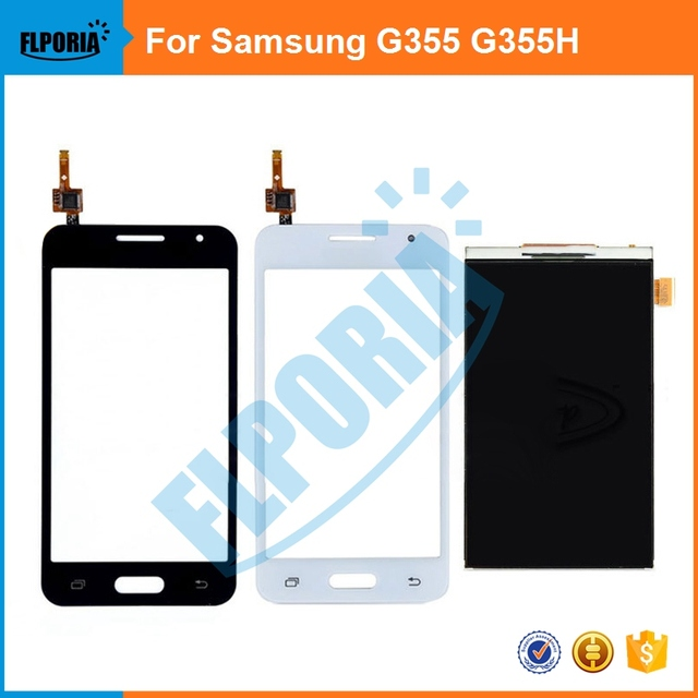 5PCS For Samsung Galaxy Core 2 G355H G3559 G3556D G355M G355 SM-G355H New White/Black LCD Display & Digitizer Touch Screen