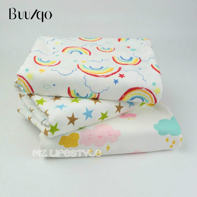 e8d12564338 Detail Feedback Questions about Buulqo 50*170cm Printed Stars and Clouds  cotton knitted jersey fabric for DIY baby clothing underwear making cotton  fabric ...