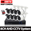 HKIXDSTE 8CH CCTV System AHD DVR 8PCS 960P 1 0MP SONY CCD Waterproof Outdoor CCTV Camera