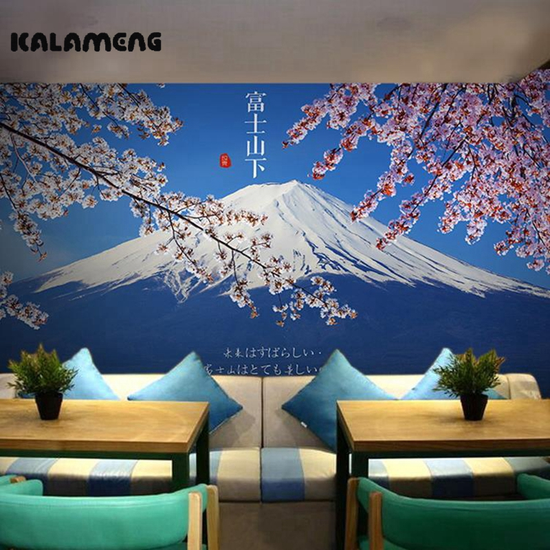KALAMENG Custom Modern Luxury Photo Wall Mural 3D Wallpaper Papel De Parede  Living Room Tv Backdrop Wall Paper Of Mount Fuji custom photo wallpaper large mural wall stickers 3d stereo digital english living room tv wall papel de parede