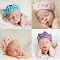 Infant Baby Headband Crown Knitting Crochet Costume Soft Adorable Clothes Newborns Photography Props Baby Photo Hats Caps