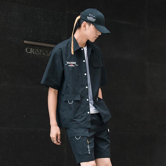 Men's Shirt Summer Short Sleeve Shirt Solid Color Comfortable Men's Tops Fashion Clothes 5