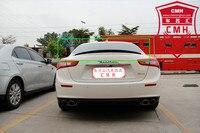 Apto para 14-15 Ghibli Maserati modificado fibra de carbono asa traseira spoiler traseiro asa