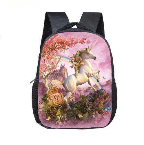 12 дюймов мультфильм Единорог школьный рюкзак школьные сумки для девочек и мальчиков радуга пони детские школьные сумки детский сад рюкзак для малышей