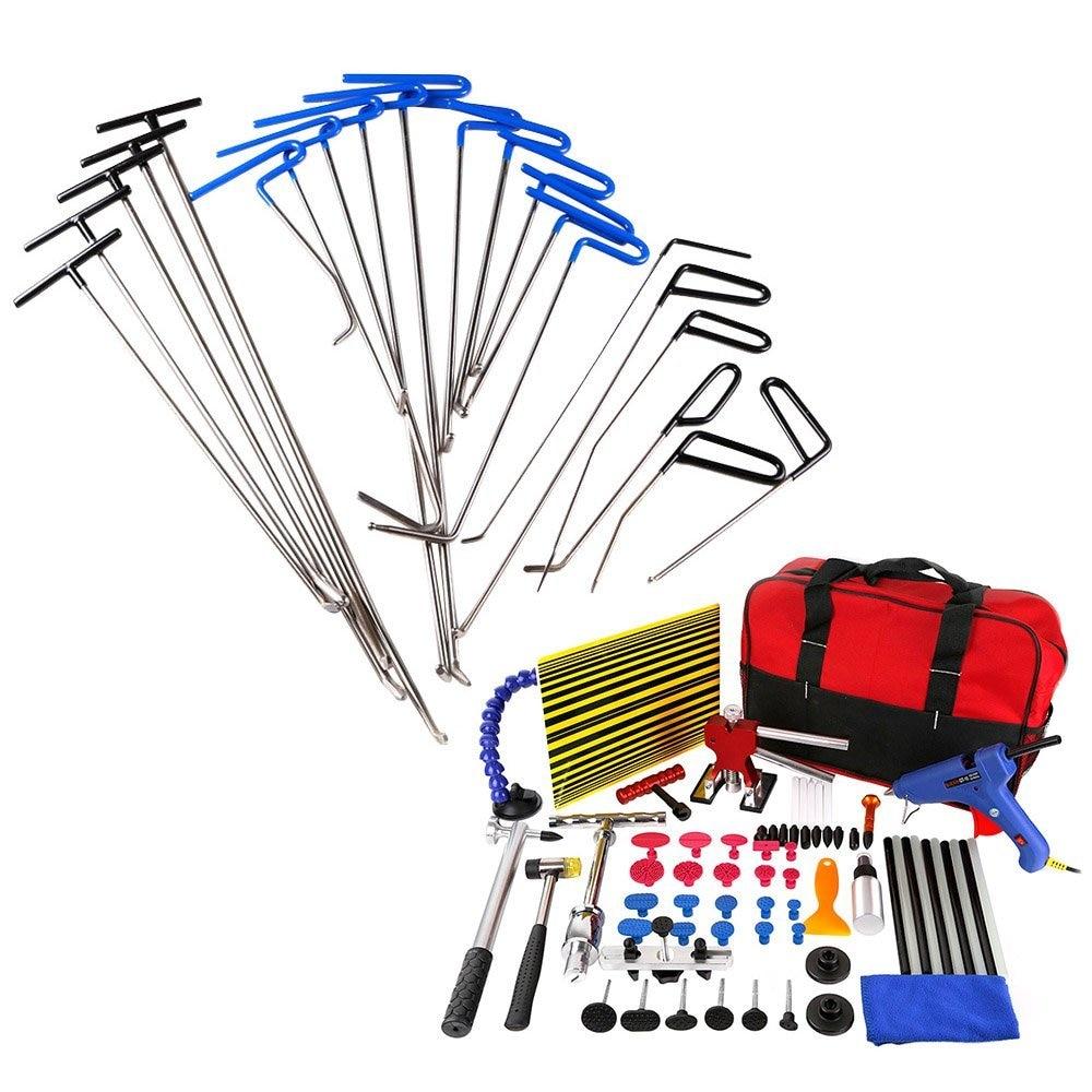 WEYHAA 85 шт. безболезненные инструменты для удаления вмятин PDR Pro Tabs Tap Down Line Board Auto Dent Kit Dent Puller Инструменты из листового металла      АлиЭкспресс