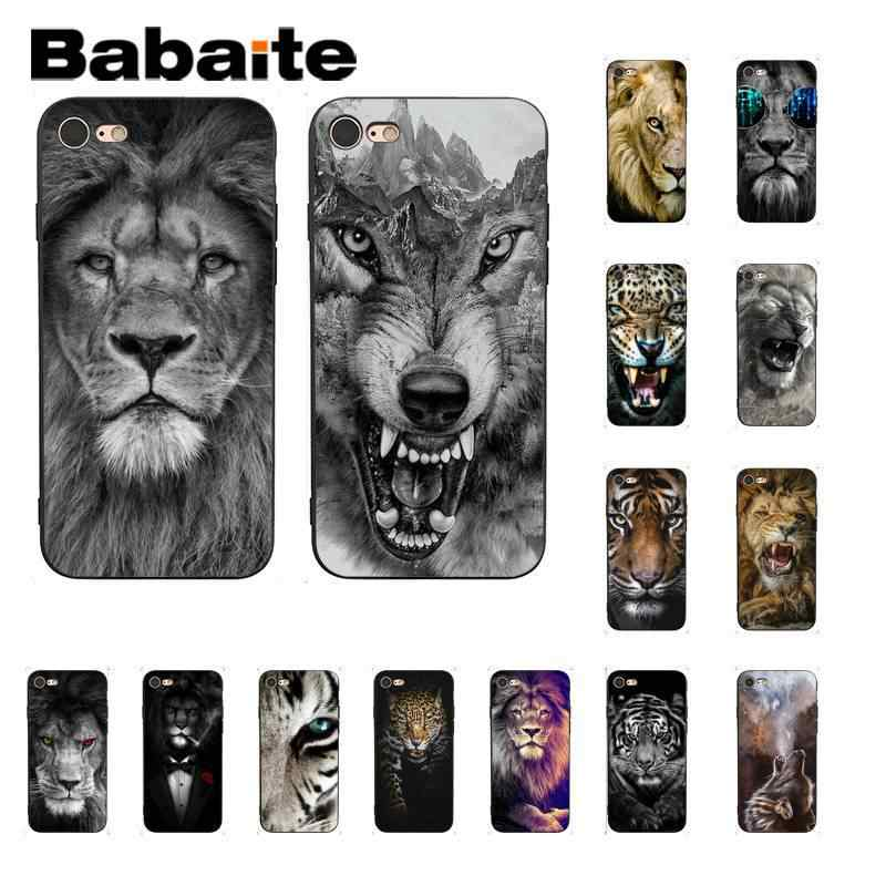 Babaite Lion Tiger Wolf รูปแบบ Coque โทรศัพท์ Shell สำหรับ iPhone X XS MAX 6 6s 7 7plus 8 8Plus 5 5S SE XR 11 11pro 11promax