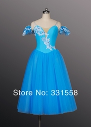 Wholesale blue romantic ballet tutus giselle ballet tutu long ballet tutu for girls ballet costume.jpg 250x250