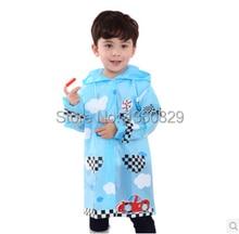 Korean s Design burberry kids Raincoat Baby Raincoat Yellow Pink Blue Cartoon Boys Rain Jacket Waterproof