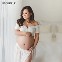 Le Couple Sweet Heart Maternity Tops and Skirt Sets Jersey Maternity Photography Props Skirt Two Ways Wear Maternity Photo Shoot
