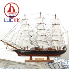 LUCKK 70CM Handmade CUTTY SARK Wooden Figurine Nautical Home Decoration Craft Room Classics Sailboat Ship Model Manual Ornaments realts classics sailboat model uss constitution section 1794 wooden ship model