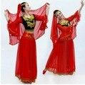 Traje de Dança do ventre Traje Indiano de Bollywood Conjuntos de Vestido Das Mulheres de Vestido de dança do ventre Traje de Dança Do Ventre Saia Tribal