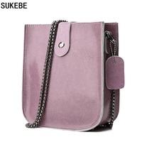 SUKEBE Top Quality MINI Shoulder Bags 100 Genuine Cow Leather Messenger Bag Female Vintage Crossbody Bags