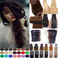 Stylish Synthetic Hair Clip In Hair Extensions Natural Hair Curly One Piece Brown Blonde Red Hair