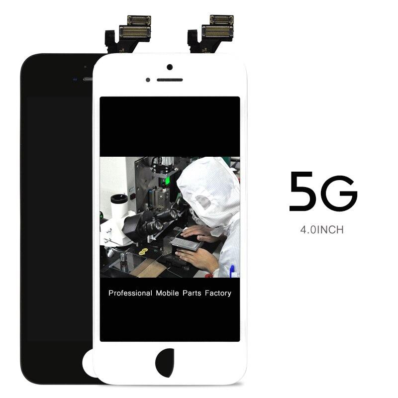 imágenes para 10 unids Sin Píxeles Muertos LCD Para Iphone 5C 5S 5G Pantalla LCD Táctil Digitalizador Asamblea Reemplazo Blanco negro