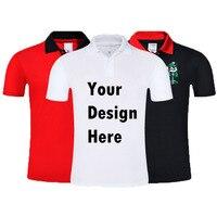 Плюс Размеры пользовательских печати DIY Фирменная Новинка Для мужчин рубашки поло персонализировать ваш логотип мужская рубашка с коротки...