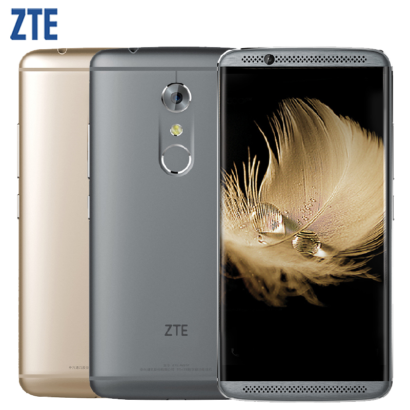 Original ZTE Axon 7 A2017 Cell Phone 4GB RAM 128GB ROM Snapdragon 820 MSM8996 Quad Core 5.5 inch 20.0MP Android 6.0 Smartphone