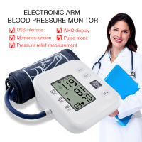 Home Health Care Arm Blood Pressure Monitor Heart Beat Meter Portable LCD Digital Machine Measuring Automatic Sphygmomanometer