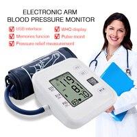 Home Health Care Arm Blood Pressure Monitor Heart Beat Meter Portable LCD Digital Machine Measuring Automatic Sphygmomanometer