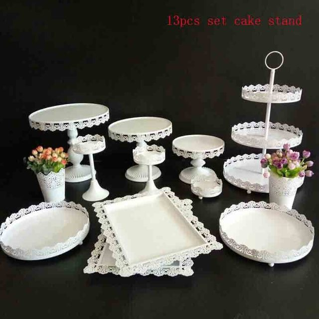 high quality cake stand 13 pieces in set dessert table wedding party ...